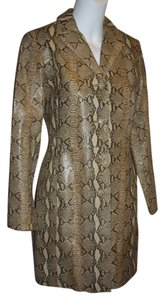 Danier Snakeskin Embossed Animal Print On Trend Stylish Fun Flirty Beige/Brown Jacket