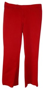 Gap Bootcut Work Boot Cut Pants red