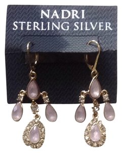 Nadri Nadri Pink Drop Earrings
