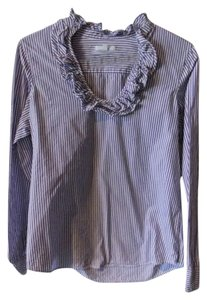 Gap Striped Top purple & white