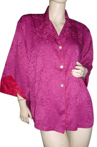 Natori Button Down Shirt cranberry