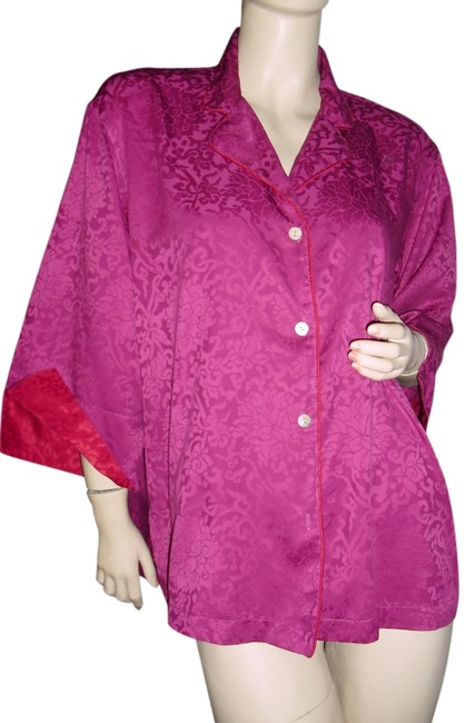 Preload https://item1.tradesy.com/images/natori-cranberry-shirt-by-josie-button-down-top-size-6-s-13340035-0-2.jpg?width=400&height=650