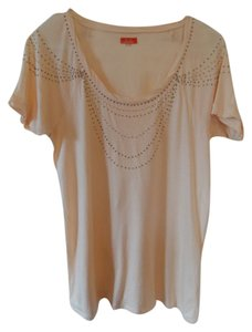 Madewell Hi-line Beaded T Shirt peach