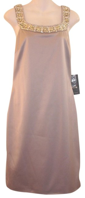 JS Boutique Beaded Satin Dress
