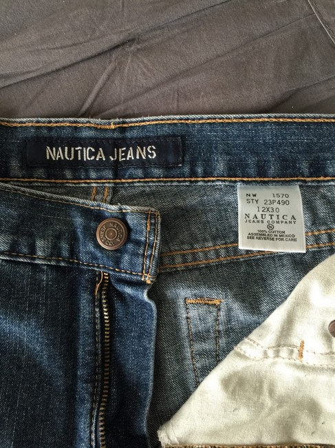 Nautica Boot Cut Jeans-Medium Wash