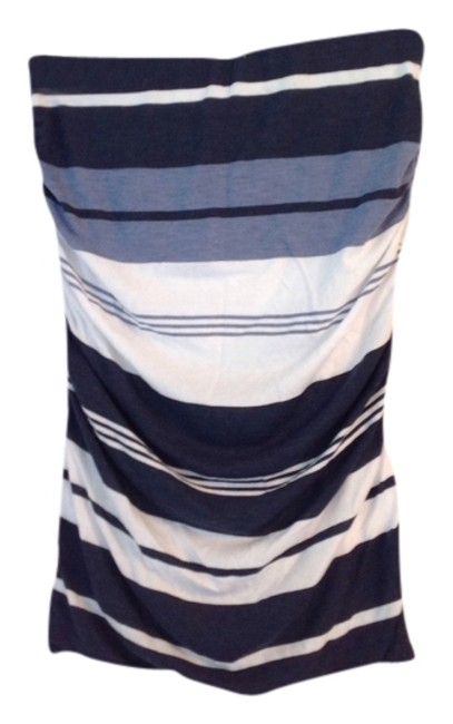 James Perse Skirt Blue and white stripes