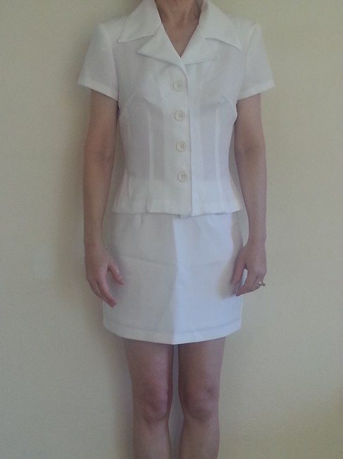 Charlotte Russe Charlotte Russe Vintage White Skirt and Matching Blouse Top Suit Sz S