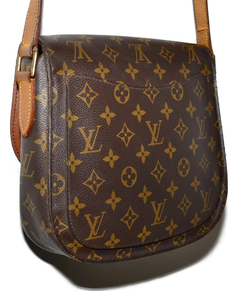 db369d63acec Louis Vuitton Saint Cloud Gm Large Monogram Flap Brown Leather   Coated  Canvas Cross Body Bag - Tradesy