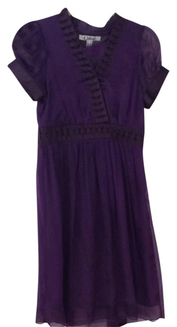 Preload https://item3.tradesy.com/images/purple-chiffon-workoffice-dress-size-2-xs-1334282-0-0.jpg?width=400&height=650