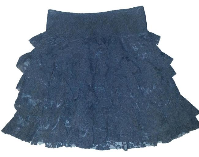 Express Lace Tiered Skirt Black Lace