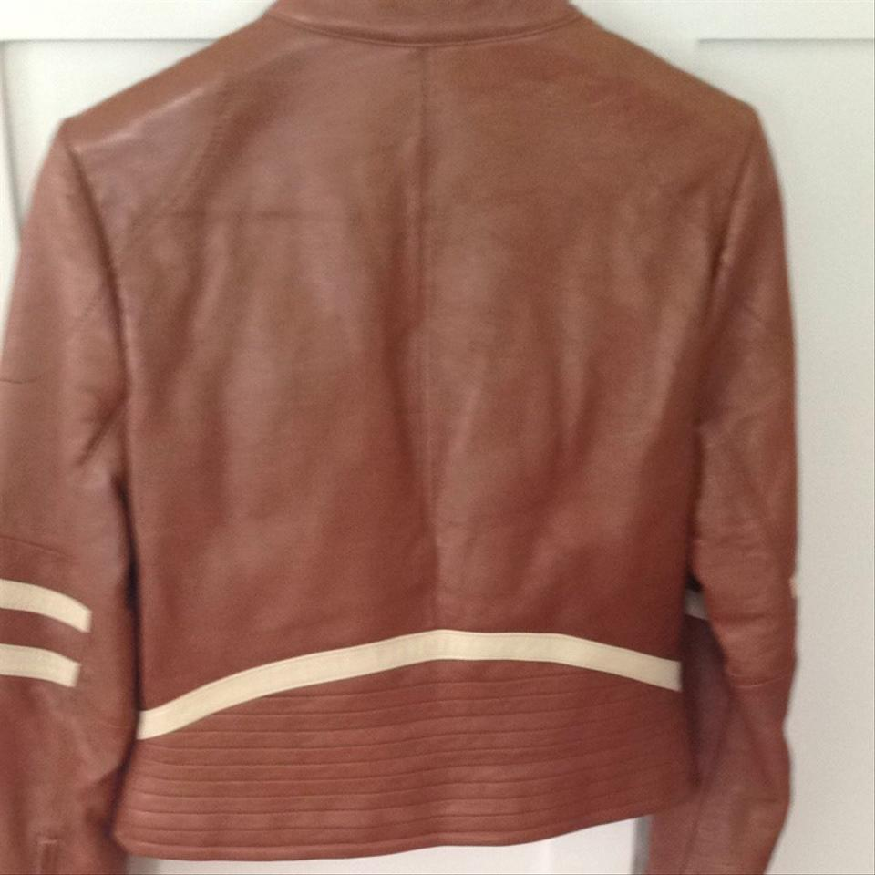 Wilsons Leather Leather Moto Brown Jacket