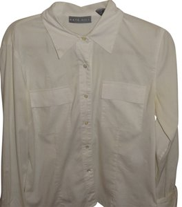 Kate Hill Button Down Shirt White