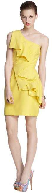 Preload https://item1.tradesy.com/images/shoshanna-yellow-sadie-short-cocktail-dress-size-0-xs-1334480-0-0.jpg?width=400&height=650