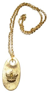 Divine Designs Gold tone crown dog tag