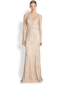 Theia Lace Fit-and-flare Wedding Dress