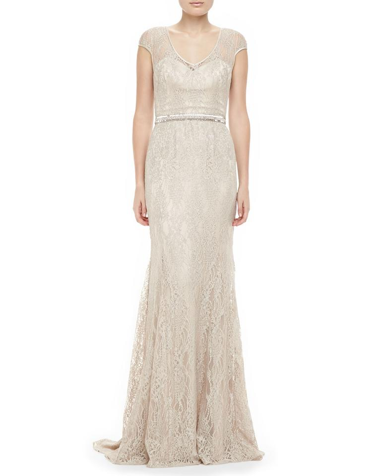 Lace Fit And Flare Wedding Gown: Theia Lace Fit-and-flare Wedding Dress On Tradesy