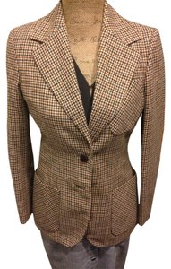 Sirotto Sport Vintage Jacket Plaid Jacket Brown Blazer