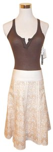 Mexx A-line Knee Length Skirt Beige
