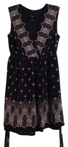 Anna Sui short dress Black, White Black And Wrap on Tradesy