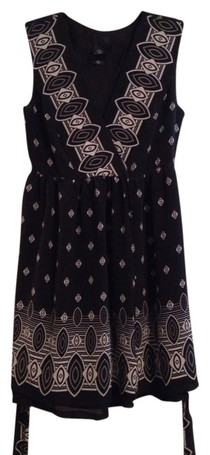 Anna Sui short dress Black, White And Wrap For Target Silk on Tradesy