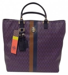 Tory Burch Roslyn Handbag Tote in Parisian Blue Multi