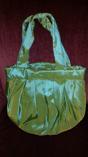 Handmade Tote in Light Green with unique Roses
