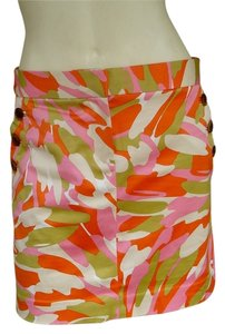 J.Crew Camo Above Knee Mini Skirt Orange