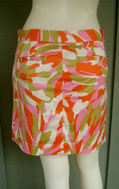 J.Crew Camo Cotton Above Knee Mini Skirt Orange