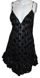 Black Maxi Dress by MILLY Fun Sexy Ruffled Short Plunging Party Night Club Night Out Flouncy