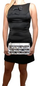 Night Out Silver Clutch
