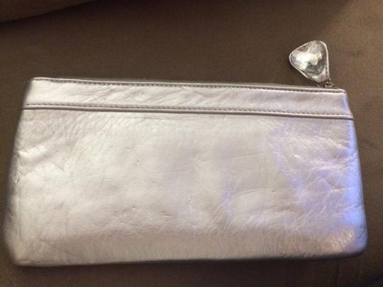 Other Night Out Hearts Silver Clutch