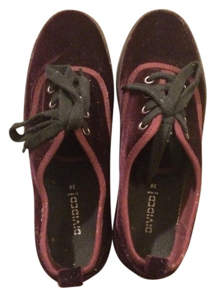 watch aef01 cce50 Divided by H&M Maroon Velvet Creepers Sneakers Size US 7 Regular (M, B) 14%  off retail