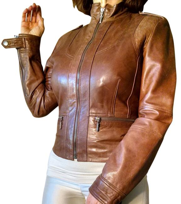 Kenneth Cole Reaction Brown Leather Jacket