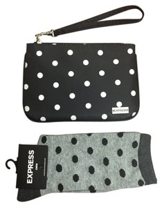 Express Wristlet Socks Polka Dot Travel Bag