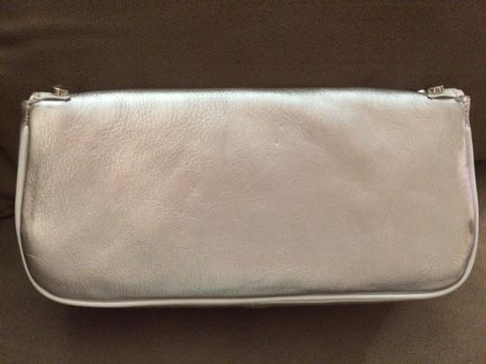 Betsey Johnson Studded Sweetheart Silver Clutch