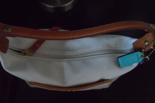Coach Tags Satchel in White