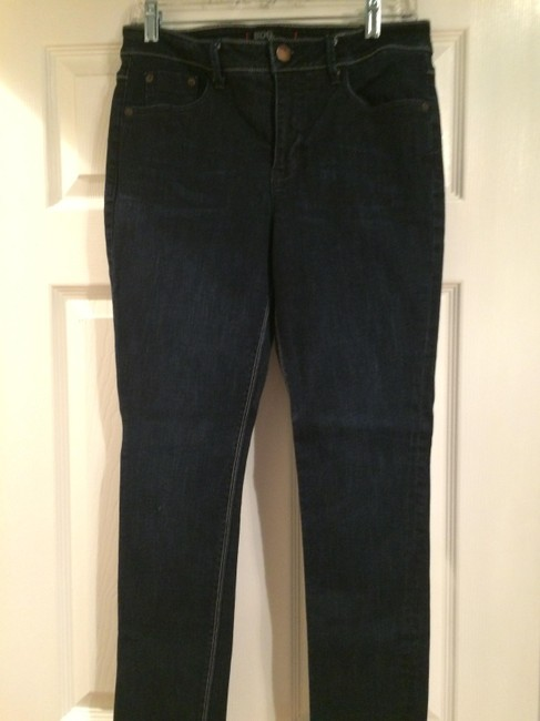 Urban Outfitters Highrise Cigarette Straight Leg Jeans-Dark Rinse