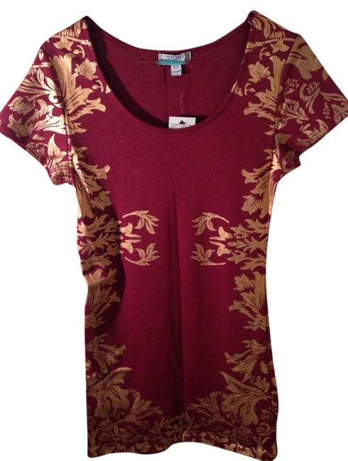 Preload https://item1.tradesy.com/images/cotton-on-dress-maroon-and-gold-1335365-0-0.jpg?width=400&height=650