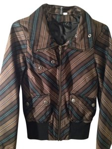 H&M Brown Plaid Jacket