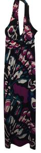 Multi Maxi Dress by Express Maxi Floral Color Halter Open Back