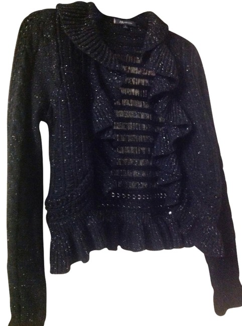 Preload https://item4.tradesy.com/images/anne-klein-black-cardigan-size-4-s-1335513-0-0.jpg?width=400&height=650