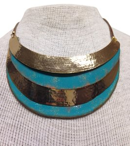 Other Gold/aqua necklace