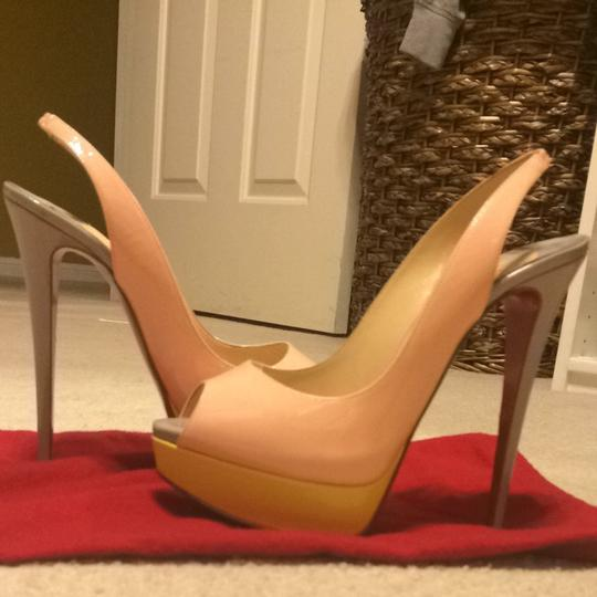 Christian Louboutin pink yellow grey Pumps