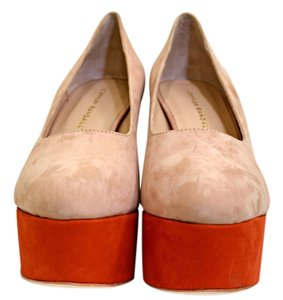 Loeffler Randall Orange & Taupe Platforms