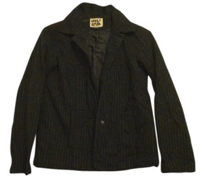 Volcom Striped Cotton Silk Lining black Blazer