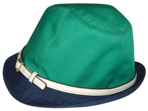 Coach NWT Authentic Coach HAT Fedora Multi-Color Navy/Jade Size S 83633