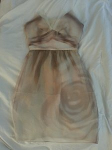 BCBGMAXAZRIA Chiffon Strapless Silk Dress