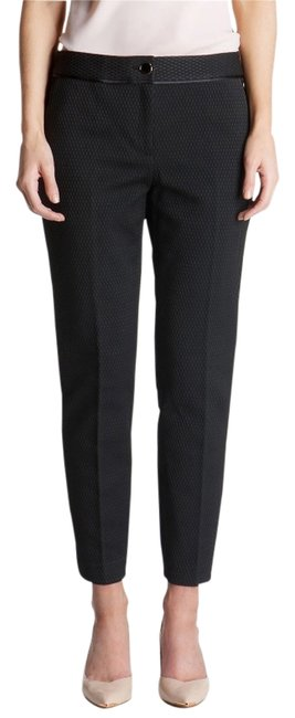 Preload https://img-static.tradesy.com/item/13361065/ted-baker-black-rait-textured-pique-tailored-trousers-size-0-xs-25-0-3-650-650.jpg