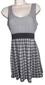 Charlotte Russe short dress Grey Multi Plaid Stretchy Stripes on Tradesy
