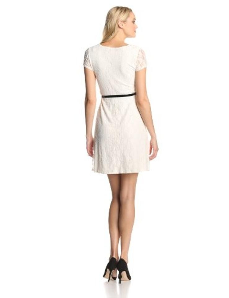 Star Vixen Ivory Womens Short Sleeve Lace Skater S Above Knee Night Out Dress Size 4 S 50 Off Retail